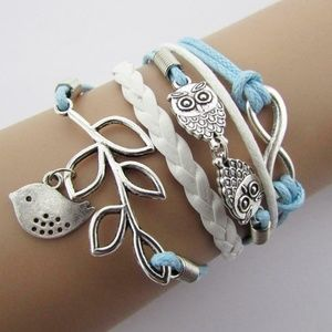 New Multi Layer Infinity Bracelet Dove Owl